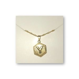 Jewelry - Initial 'Y' Gold Letter Chain Necklace